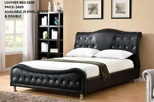 CLASSY LEATHER BEDS ON REDUCED PRICES : GRAND SALE- 50% OFF (AD 119)