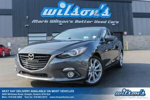 2014 Mazda MAZDA3 GT-SKYACTIV SEDAN! NAVIGATION! SUNROOF! HEADS