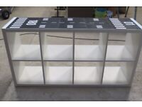 Kids White Shelving Unit with Runway/Road Top