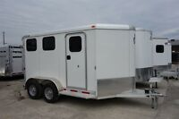 2015 Adams Trailers 2 Horse Slant Load Trailer