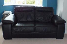 MASKREYS Black Leather Sofa, made by Calia Italia style Coronardo.