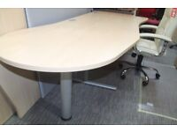 Workstation with end reception table - Maple