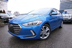2017 Hyundai Elantra Limited, Navi, Leather, Sunroof, Backup Cam
