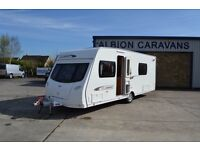 Lunar Clubman SE, 2011, fixed bed, four berth touring caravan for sale.