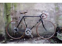 PUCH BLACK PHANTOM. 23 inch, 59.5 cm. Vintage racer racing road bike, 10 speed