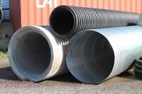Ponceaux, canalisation, tuyau, acier, plastique, béton, neuf