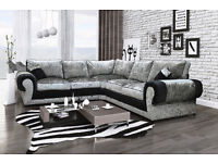 Brand new Tango crushed velvet corner sofa collection, DELIVERY INCLUDED FOR LIMITED TIME ONLY