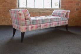 Anna bed end bench 5ft wide, deep buttoned seat. brand new BARGAIN