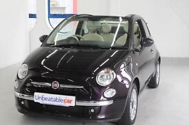 FIAT 500C 1.2 Lounge 2dr Dualogic [Start Stop] Auto (purple) 2014