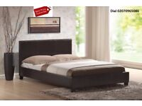💖💖EXPRESS DELIVERY💖Brand New Double/King Leather Bed w Deep Quilt/Memory Foam/Orthopedic Mattress