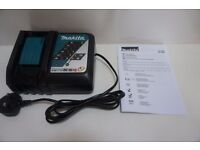 Makita 240V DC18RC 7.2ah to 18V Li Ion Fast Battery Charger – New