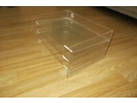 Three Muji Perspex trays to organise your work BARGIN