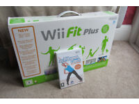 Nintendo Wii Fit balance board and Wii Fit Plus game