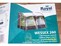 CARAVAN AWNING ( USED ONCE )
