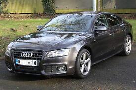 Audi A5, 2.0 TDI, S Line Sportback, Quattro, 5dr, Sat Nav, Blue Tooth, Black Style