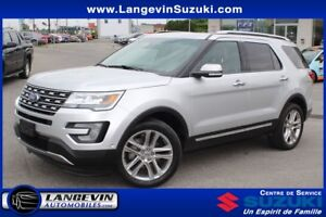 2017 Ford Explorer Limitée/CUIR/GPS/4WD/TOIT PANO