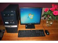 "HP Desktop PC Including 250GB HDD, 4GB RAM, DVD, 17"" Screen, Wifi, Windows 7 & Office 2010"
