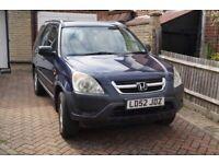 Honda, CRV CR-V VTEC SE, Estate SUV, 2002, Manual, 1998 (cc), Blue, 5 doors