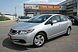 2013 Honda Civic LX 5 SPEED - BLUE-TOOTH - ECON MODE - CERTIFIED