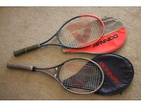 Two Donnay Lightweight Tennis Rackets with covers.
