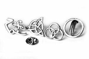 Led Zeppelin 4 Symbols Pin Badges - Superb Set!