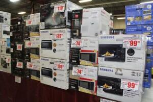 NEW / Open Box Brand Name Microwaves. SAVE 40% OFF AND MORE REGULAR RETAIL!
