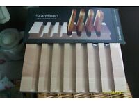 Scandinavian style wooden toast rack.