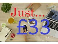 Cheap Web Design £33 |Hosting & Free Domain|Cheap Logo Design|Web Developer|Freelance|Wordpress|App
