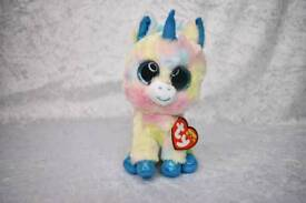Blitz Unicorn TY Beanie Boo Medium Soft Toy