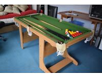 Children's 5 foot pool/snooker table