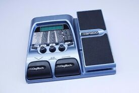 DigiTech BP200 bass modeling processor. Bass Guitar effects pedal.