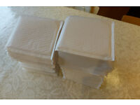 79 x Bubble Lined White Padded Envelopes (CD Size 160mm X 170mm)