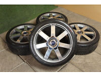 "Genuine FORD Mondeo 18"" Alloy wheels & Tyres 5x108 Focus MK2 Transit Connect Titanium X"