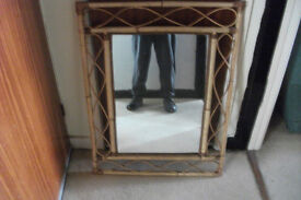 large banboo mirror