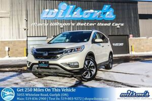 2015 Honda CR-V TOURING AWD SUV! LEATHER! NAV! SUNROOF! BLIND SP