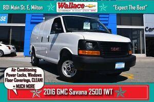 2016 GMC Savana 2500 CARGO/PWR WINDOWS + LOCKS/AC/WARRANTY