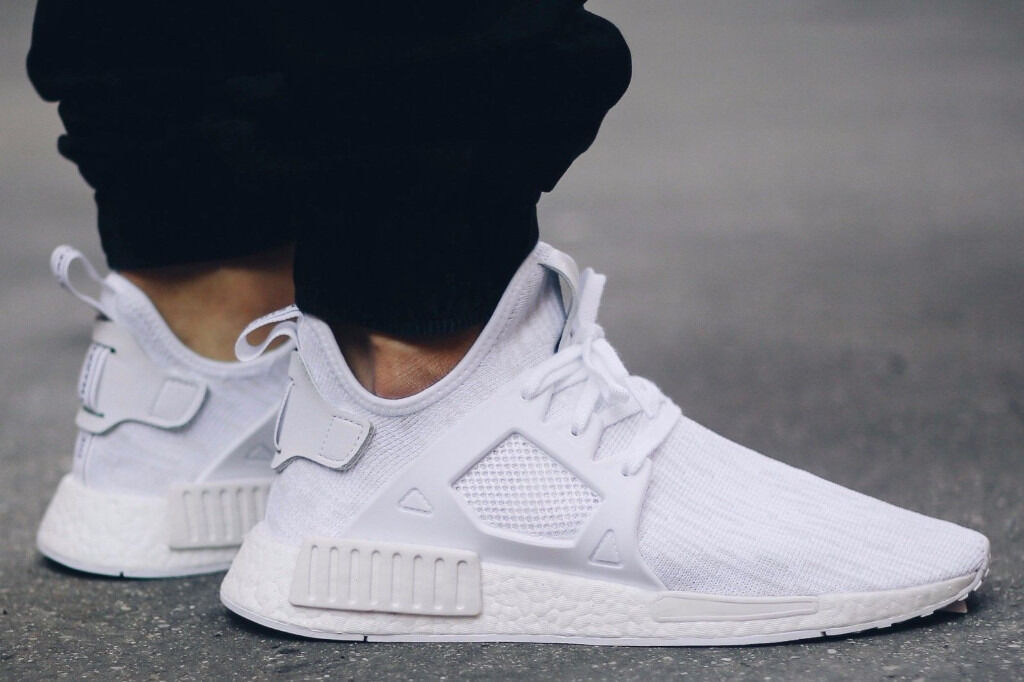 euxjvf Adidas NMD XR1 PK Triple White Primeknit UK 6 BRAND NEW W/Receipt