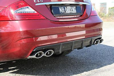 MH-DEZENT Heckdiffusor für Mercedes CLS 500 W219  AMG Stossfänger Optik Paket