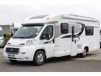 Bessacarr E572, 2012, 4 Berth, End Washroom, Fixed Twin Bed, Low profile Motorhome, 20800 miles