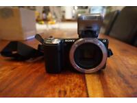 Sony nex 5n camera comes unboxed with flash and battery can be seen fully working