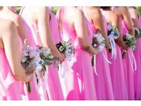 Pink Bridesmaid Dress Size 10 Full Length Beautiful Open Flow Back