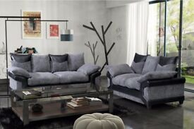 LARGE DINO CORNER SOFA ---- Black & Grey or Brown & Beige LEFT OR RIGHT INC STOOL