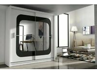 Brand New Stylish Chelsea 2 Door Mirror Sliding Bedroom Wardrobe Same\next da