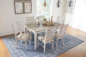 SKEMPTON TABLE AND 6 CHAIRS - ONLY 799! - FREE DELIVERY AND IN HOME SET-UP IN CALGARY!