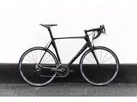 FULL CARBON road bike CAMPAGNOLO FIZIK (NEW PARTS) 61 CM 8 KG original receipt 1400£