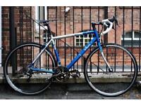 Rare Decathlon BTwin Men Road Bike Bicycle 51cm 700c Blue Silver Campagnolo not Triban