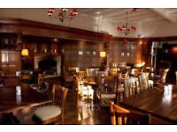 Full and part time bar staff for food lead local pub