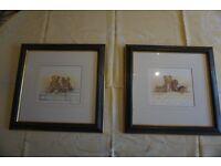 Blue Framed Child's Prints, ideal for Nursery/Playroom