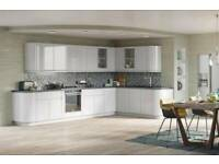 NEW HANDLELESS HIGH GLOSS KITCHEN, 18mm RIGID BUILD WITH SOLID BACKS , 22mm LACQUERED