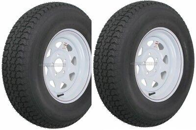 Two Trailer Tires Rims ST205/75D14 2057514 F78-14 14